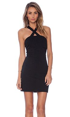 Eight Sixty Ponte Cross Dress in Black