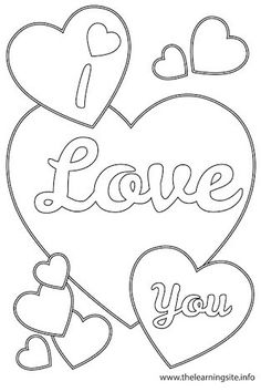 15 Best I Love You Coloring Pages Images On Pinterest Coloring