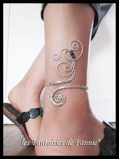 Bracelet cheville DESIGN aluminium Plus