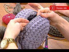 Makaron çanta yapımı - YouTube