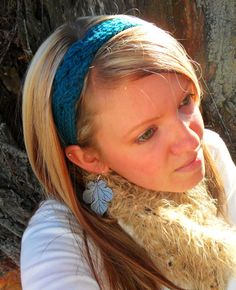 Made by: ME! :)  Teal crocheted headband by JamieMarie333 on Etsy, $7.00
