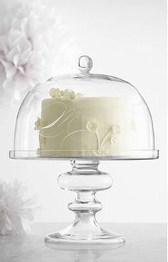 Shop Mark and Graham for personalized glassware. Cake Stand With Dome, Cake Dome, Cake Stands, Bolo Moana, Ultimate Wedding Gifts, Cake Pedestal, Cake Platter, Unique Christmas Decorations, Beautiful Birthday Cakes
