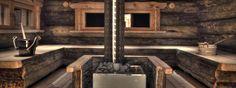 Sauna, love this sauna. So rustic and cozy Finland Sauna House, Sauna Room, Steam Bath, Steam Room, Jacuzzi, Rustic Saunas, Spas, Piscina Spa, Cottage