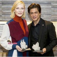 #LuqzoneMedia Shah Rukh Khan was honored with the prestigious Crystal Award at the World Economic Forum Annual Meeting in Davos yesterday. Gauri Khan shared a photo of Shah Rukh Khan with his Crystal Award. Chec…