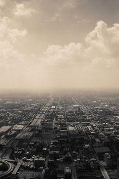 Cloudy Suburbs City iPhone 5 Wallpaper