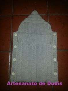 Artesanato de Dudis 2: Saco de dormir para bebé em tricot/Knitting baby s...