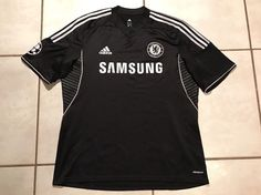 Rare ADIDAS Chelsea FC 2013 BLACK/SILVER Third Jersey Men's XL    eBay