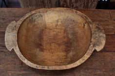 Antique Primitive Wooden Trencher Dough Bowl Treen with Cool Handles | eBay