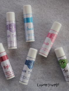 Chapstick CTR label Tutorial or if you would rather order them she has an Etsy site