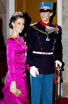 Princess Mary is the belle of the ball at Danish royals' New Year soiree with Prince Joachim