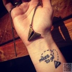 10. #Miles to Go - 25 of the Best #Travel Tattoos in the #Entire World ... → #Beauty #Tattoos