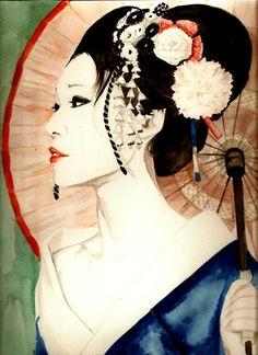 Photo reference inspiration for my geisha tattoo  Geiko by SajoPhoe.deviantart.com on @deviantART