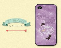 Cowboys and Angels iPhone 4/4S/5 Case by OctoberWish on Etsy