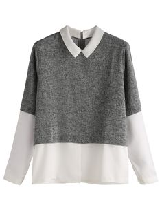 Shop Grey Contrast Zip Back Top online. SheIn offers Grey Contrast Zip Back Top & more to fit your fashionable needs.