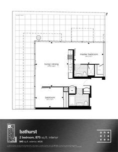 Why it rocks: Huge terrace, corner unit, appropriately sized kitchen, rectilinear plan,
