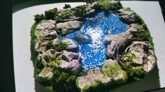 Pond Lake self adhestive diorama train layout model making by CushionCa on Etsy