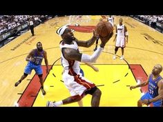 Top 5 Plays of NBA Finals, Game 5 - #5 – The Miami Heat's Chris Bosh blocks Kendrick Perkins from dunking the ball. As Perkins goes up, Bosh comes from behind to knock the ball away and then recover the ball himself.