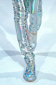 Super Sick Silver and Reflective pants and shoes, oh how I covet thee!