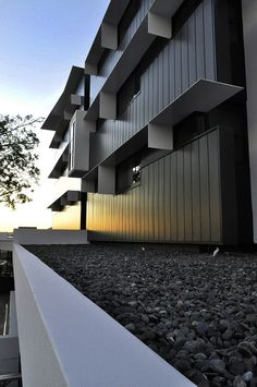 The Village @ Coorparoo, Brisbane - Retirement Village by Architects Building 1 - End Elevation Metal Cladding + Steel Awnings Brisbane Architecture, Form Architecture, Residential Architecture, External Cladding, Metal Cladding, Photoshop Rendering, Windows And Doors, Entrance, Restoration