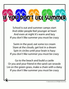If you don't like summer you must be crazy