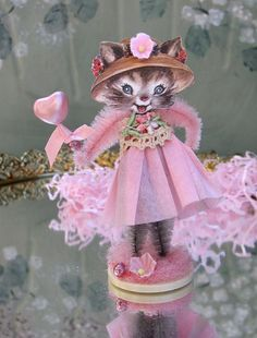 Vintage Inspired SuGaR SwEeT SpRiNg  Kitty  by saturdayfinds