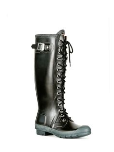 Womans Tall Lace Up Rain Boots | Rubber Boots | Hunter Boot Ltd $119.00