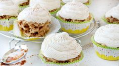 No-Bake Snickerdoodle Cupcakes: The classic cinnamon-sugar cookie inspires a mini take on the no-bake bar your kids adore. Easy To Make Desserts, Great Desserts, Frozen Desserts, No Bake Desserts, Delicious Desserts, Dessert Recipes, Cupcake Recipes, Easy Snacks, Baking Cupcakes