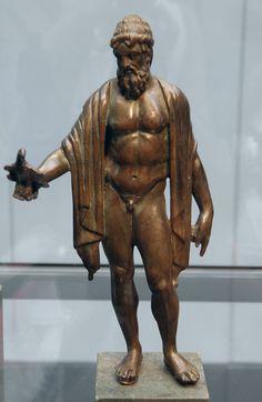 Roman bronze statuette of Jupiter, 2nd century AD, Staatliche Antikensammlungen, Munich