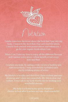 Affirmation - Nutrition by CarlyMarie More