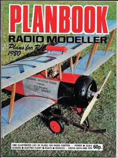 Radio Modeller Planbook 1980 Plans for R/C Gliders Boats Vehicles MAP