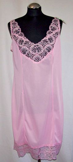 Vintage Ladies' Negligee. Soviet Time Lace Lingerie. Made in the GDR. Retro Slip Dress. Vintage Combination.