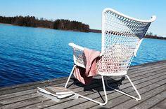 Midcentury-inspired Hogsten outdoor armchair at Ikea