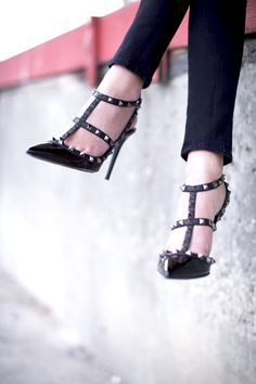 studded heels // edgy chic