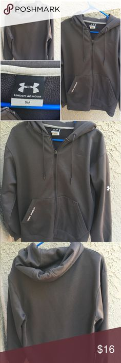 🔶 Grey Under Armour Full-Zip Hoodie 🔶 Grey Under Armour Full-Zip Hoodie - This hoodie is in fantastic condition with no stains or holes! The size is Adult Small. Let me know if you have any questions. Happy Poshing :) Under Armour Jackets & Coats Performance Jackets