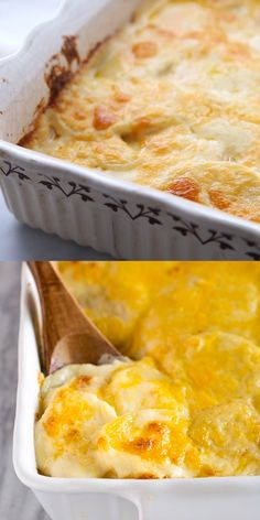 This easy Potatoes Au Gratin recipe is made with thinly sliced potatoes a creamy cheese sauce and topped with sharp cheddar cheese. The post Au Gratin Potatoes appeared first on Tasty Recipes. Potato Side Dishes, Vegetable Dishes, Vegetable Salad, Cheese Recipes, Cooking Recipes, Rice Recipes, Vegetarian Potato Recipes, Cooking Gadgets, Steak Recipes