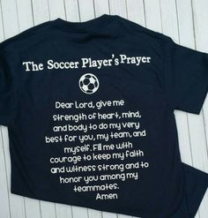 Soccer Player's Prayer T-shirt by MBPandMore on Etsy