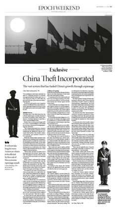 EXCLUSIVE: How Hacking and Espionage Fuel China's Growth|Epoch Times #China #newspaper #editorialdesign