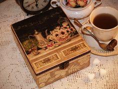 Tea box Salon de The /  Antique decoupage by VintageBoutiqueshope, $55.00