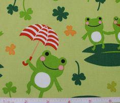 Japanese Frog Fabric - Kawaii Fabric - Lightweight Cotton Canvas - Happy Frogs - Kids Quilting Cotton - Animal Fabric - Kiyohara - HALF YD by Maigocute on Etsy https://www.etsy.com/listing/123642298/japanese-frog-fabric-kawaii-fabric