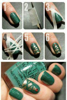 Neat Christmas idea for nails!