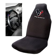 Houston Texans NFL Car Seat Cover and Steering Wheel Cover Set