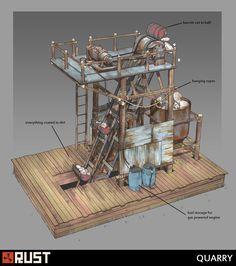 ArtStation - Rust - Quarry, Howard Schechtman