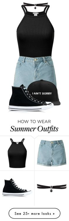 """""""I want an outfit like this for the summer"""" by thelunaluchicloset on Polyvore featuring Miss Selfridge, Fallon and Converse"""