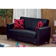 Empire Furniture USA Harlem Convertible Loveseat - LS-HARLEM