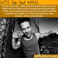 Brad Pitt's hilarious moments - WTF fun fact Wtf Fun Facts, True Facts, Funny Facts, Crazy Facts, Random Facts, Trivia Facts, The More You Know, Good To Know, Science Facts