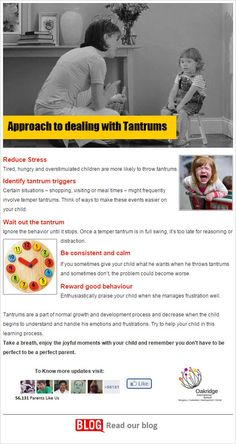 Approach of dealing with Tantrums