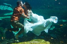 Trash the dress photo shoot, don't think i would ever dare to do this but some really cool pics!