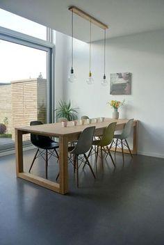 table de salle à manger, table a manger en bois rectangulaire