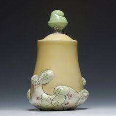 the-clayprofessor:  Chandra DeBuse. Lidded Jar.