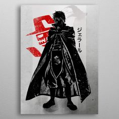 Fairy Tail - See amazing artworks of Displate artists printed on metal. Easy mounting, no power tools needed. Nalu, Fairytail, Erza Et Jellal, Zeref, Manga Anime, Anime Guys, Anime Fairy Tail, Crime, Fairy Tail Characters